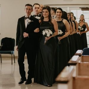 Charcoal Mori Lee Bridesmaid Dress